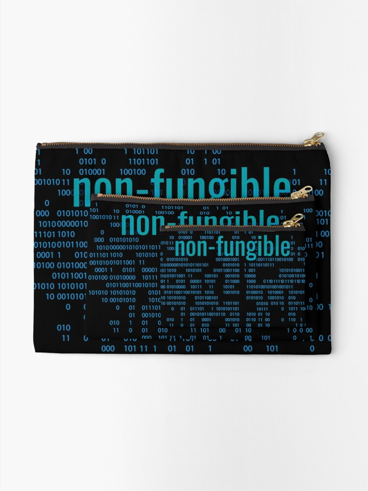 Alternate view of Non-Fungible crypto Blue Zipper Pouch
