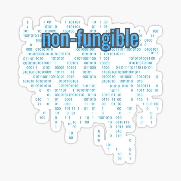 Non-Fungible crypto Blue Sticker