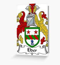 Elder Coat of Arms / Elder Family Crest Greeting Card