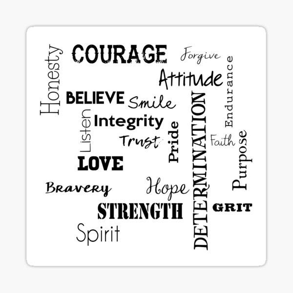 Words of Inspiration Sticker