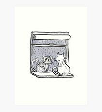 Window Cats Art Print