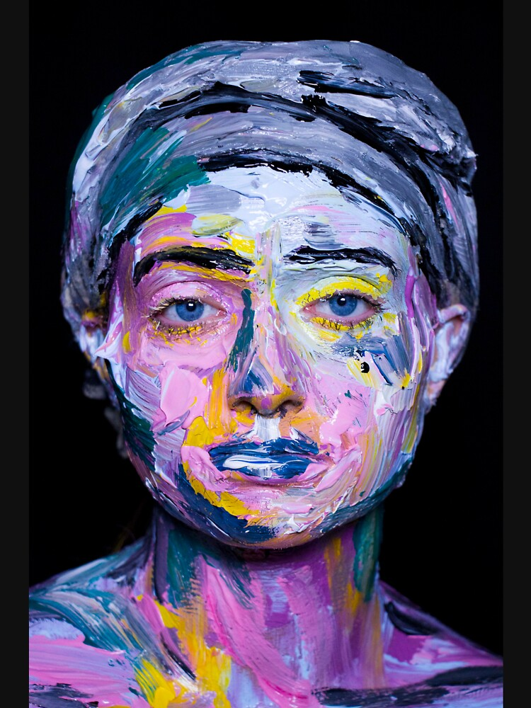 Colourful expressive portrait painting by monishabr