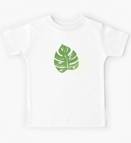 Linocut Leaf Pattern Kids Clothes