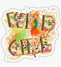 Wild Girl Orange - Stella Sticker