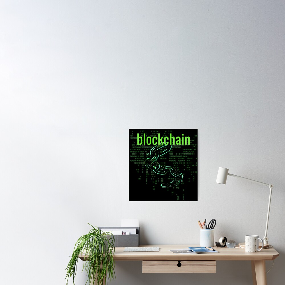 BlockChain Digital Green Poster