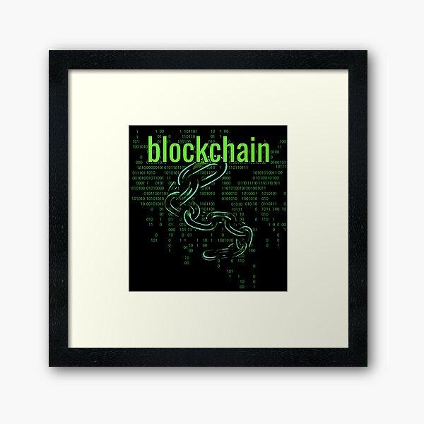 BlockChain Digital Green Framed Art Print