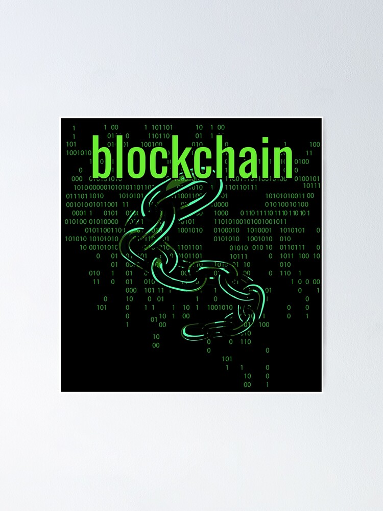 Alternate view of BlockChain Digital Green Poster
