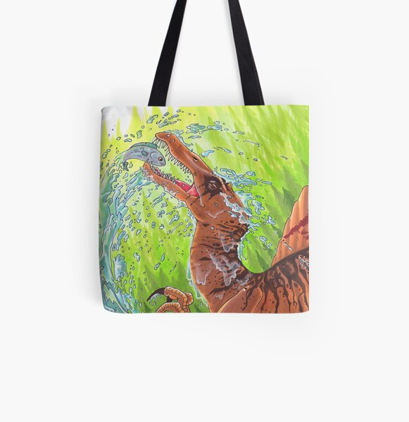Spinosaurus All Over Print Tote Bag