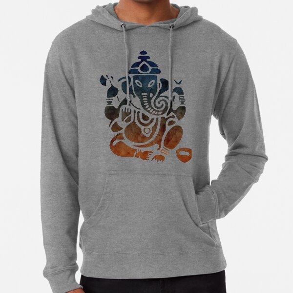 Shri Ganesha Watercolor Design Lightweight Hoodie