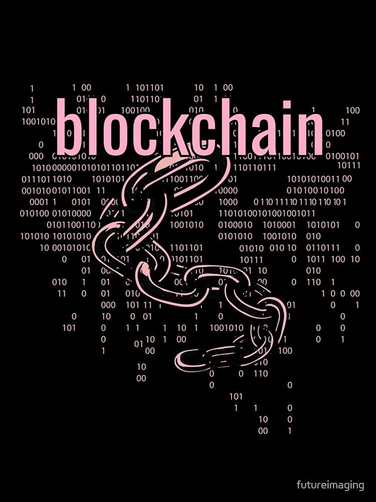 BlockChain Cyber Pink by futureimaging