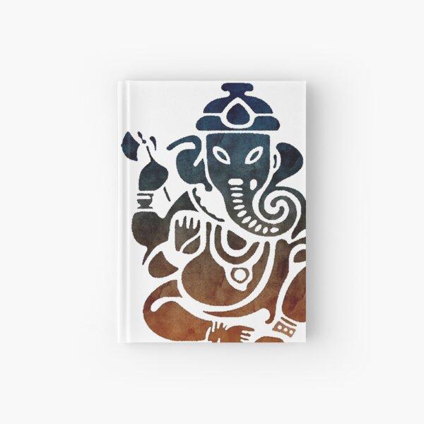 Shri Ganesha Watercolor Design Hardcover Journal