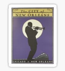 Vintage poster - City of New Orleans Sticker