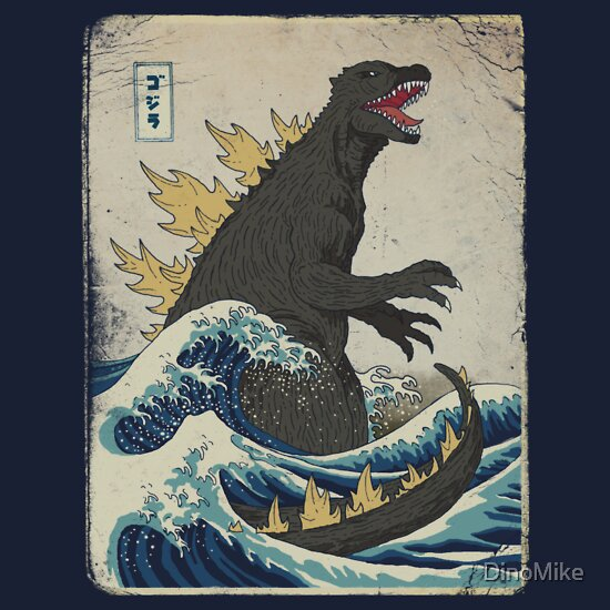 TShirtGifter presents: The Great Godzilla off Kanagawa | Unisex T-Shirt