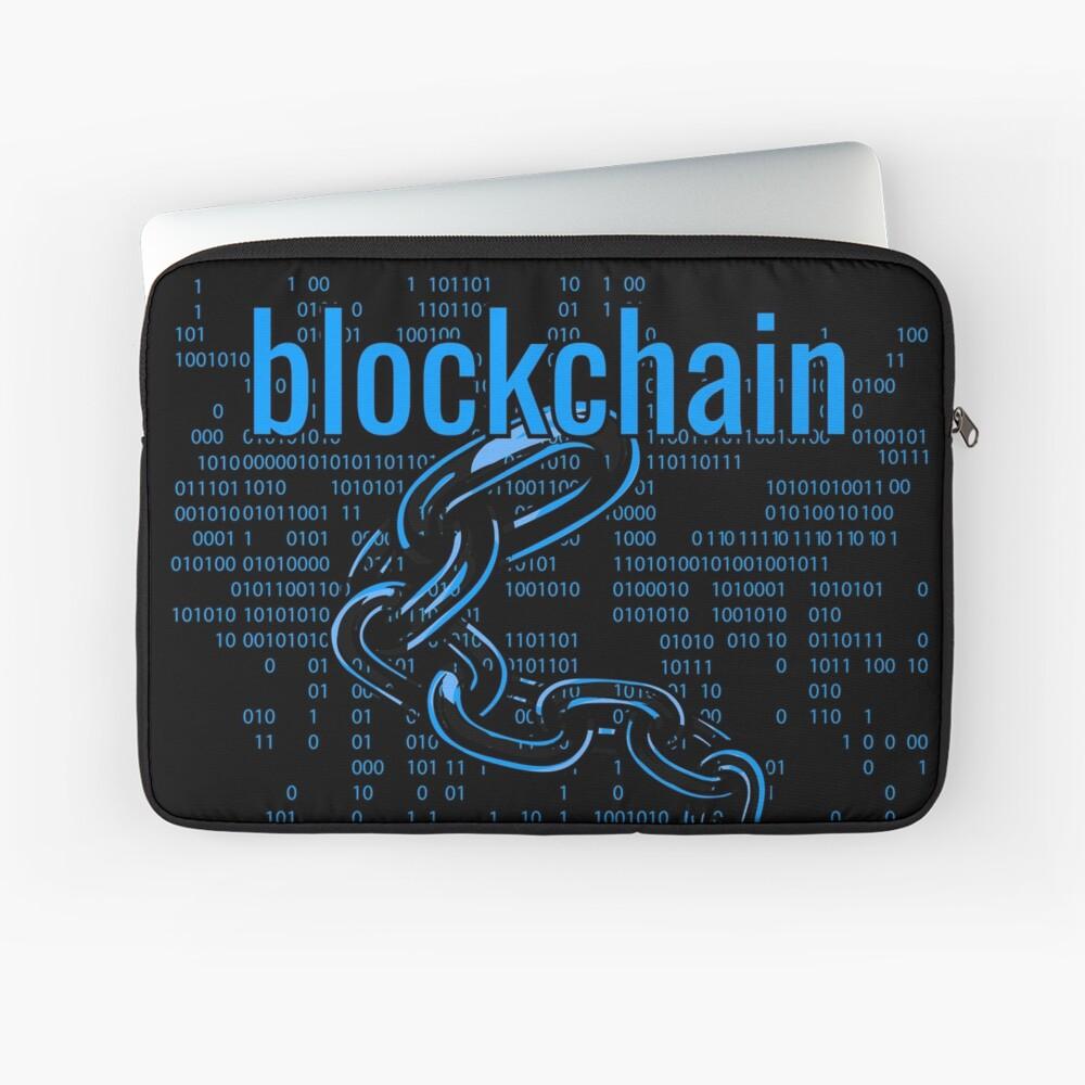 BlockChain Cyber Blue Laptop Sleeve