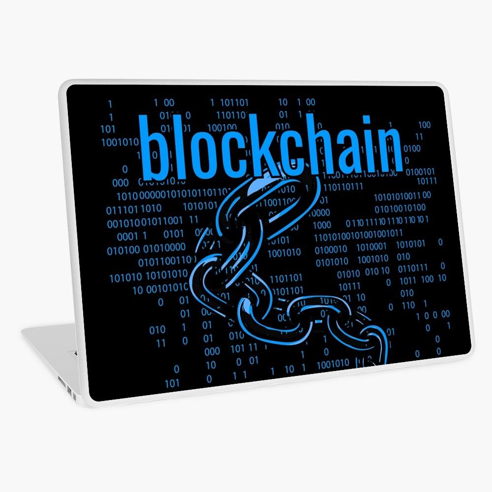 BlockChain Cyber Blue Laptop Skin