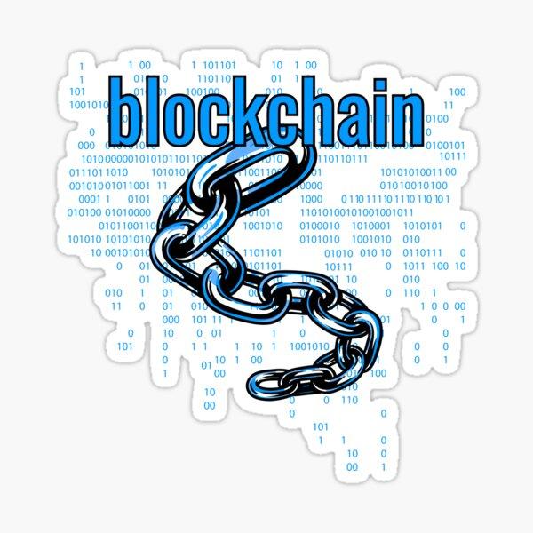 BlockChain Cyber Blue Sticker