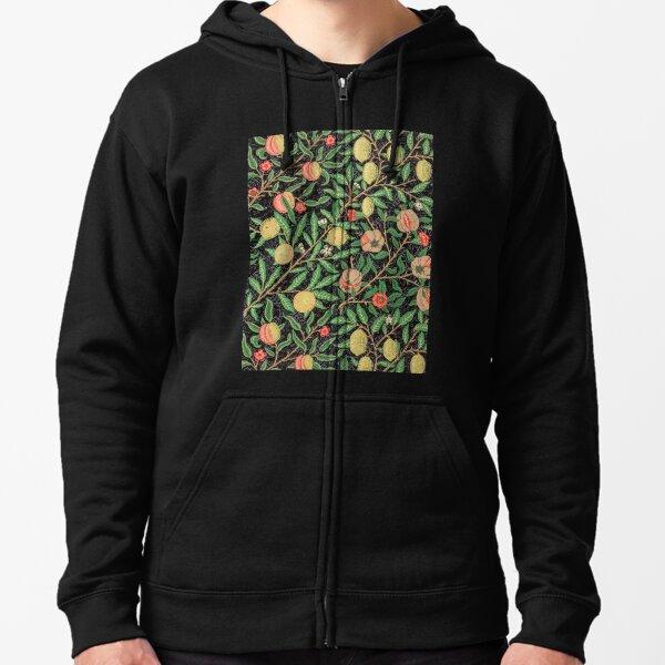 William Morris Fruit Pattern Zipped Hoodie