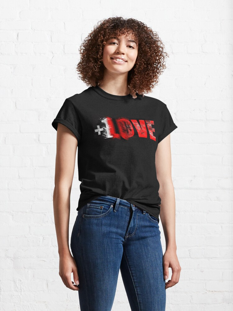Alternate view of +1 LOVE scattered Classic T-Shirt