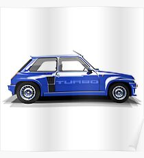 Renault 5 Turbo (blue) Poster