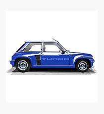 Renault 5 Turbo (blue) Photographic Print