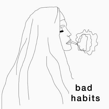 Bad Habits (Nun Smoking) by bexsimone