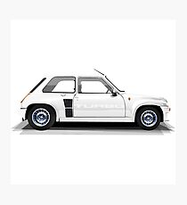 Renault 5 Turbo (white) Photographic Print