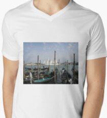 Gondolas Venice Men's V-Neck T-Shirt