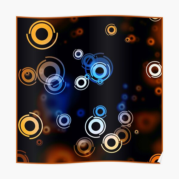 3D magnetic glowing particles Poster