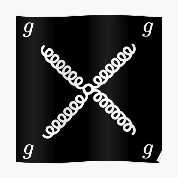 Feynman diagram of gluons dark version Poster