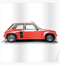 Renault 5 Turbo (red) Poster