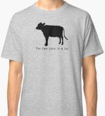 Cow Level-Black Classic T-Shirt