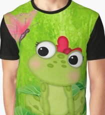 Cute Frog Girl 3 Graphic T-Shirt