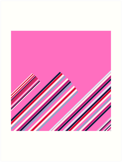 Luxury Artistic Fashion Collection with Retro Vintage Stripes - Luxury Collection by Bee and Glow Illustrations Shop