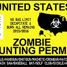 Zombie Hunting Permit 2015/2016 by zorpzorp