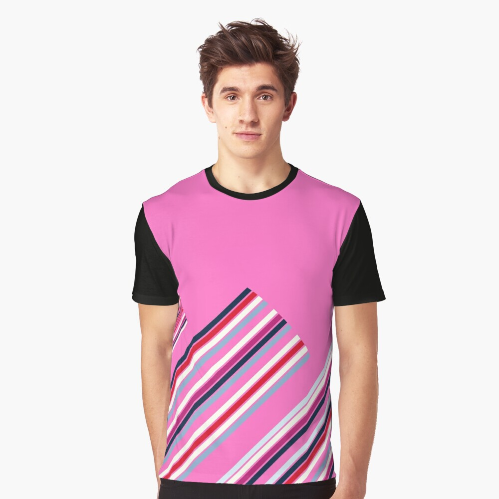 Luxury Artistic Fashion Collection with Retro Vintage Stripes - Luxury Collection Graphic T-Shirt Front