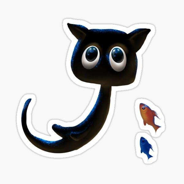 Schwarzes Kätzchen - das große Unbekannte Sticker
