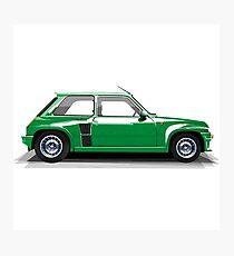 Renault 5 Turbo (green) Photographic Print