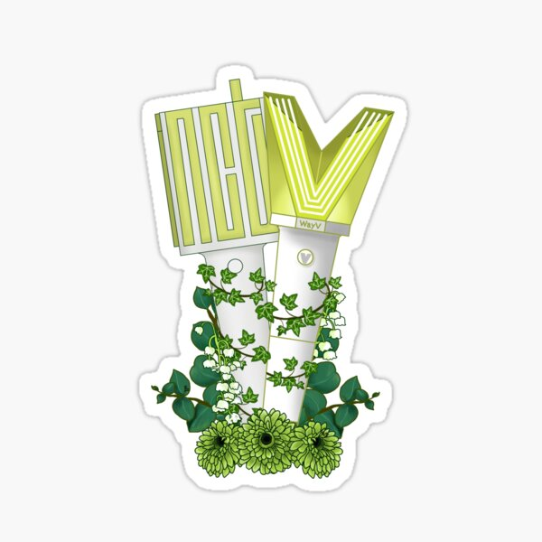 NCT 127/ NCT and WayV Floral Lightstick kpop  Sticker