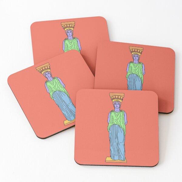Caryatid Coasters (Set of 4)