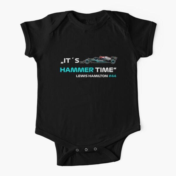 It´s Hammer Time # 44 Lewis Hamilton Fórmula 1 Body de manga corta para bebé
