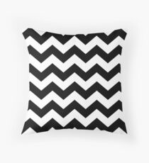 Black And White ZIG-ZAG Throw Pillow