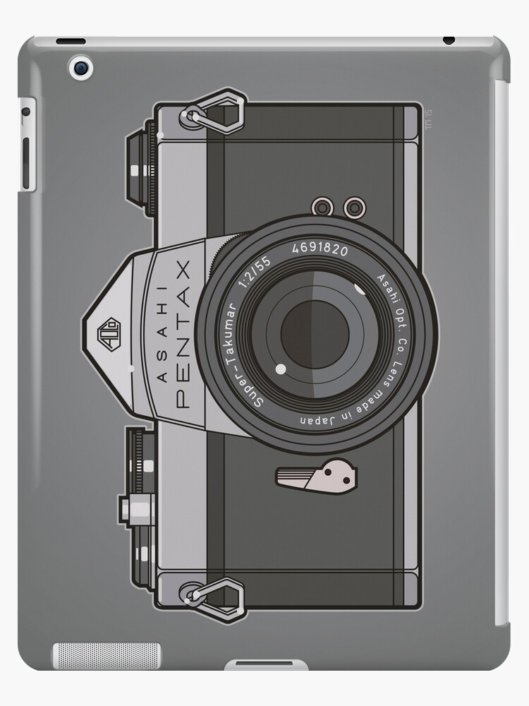 Asahi Pentax 35mm Analog SLR Camera Line Art Graphic Gray by Tom Mayer