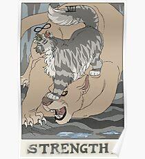 Warriors Tarot Series- Strength Poster