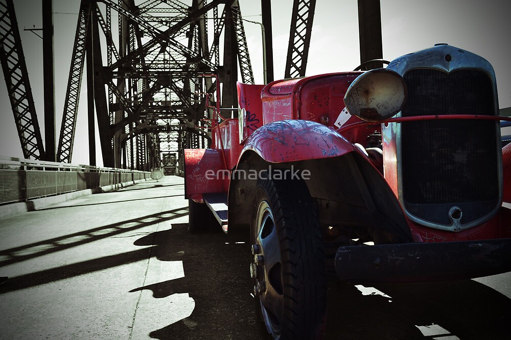Route 66 Vintage Red Car by emmaclarke