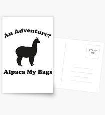 An Adventure? Alpaca My Bags. Postcards