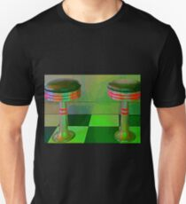 Retro Restaurant Stools High Glow T-Shirt