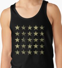 Distressed Gold Sterne Muster Tank Top