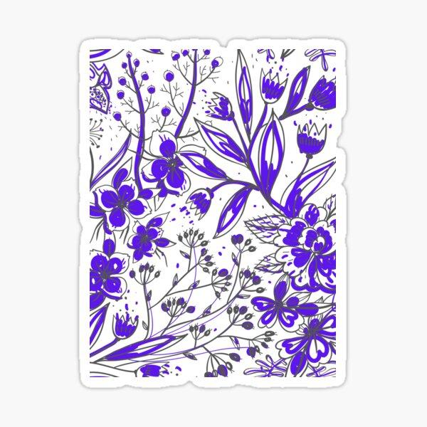 Simona - Purple Flower Print Sticker