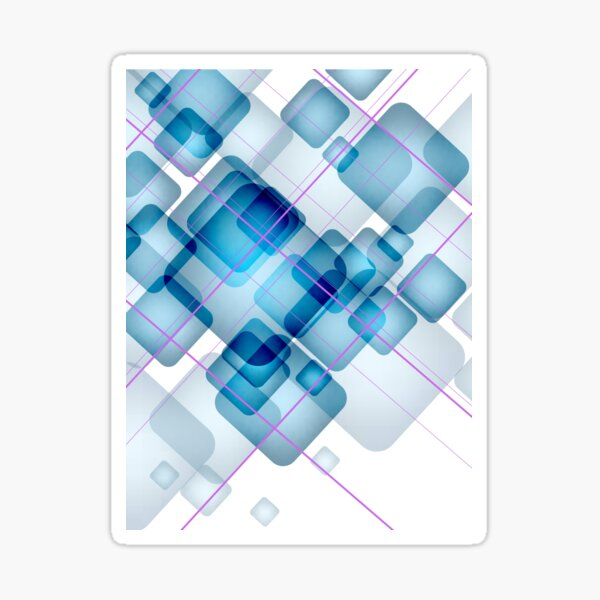 Wizard - Blue Print Sticker