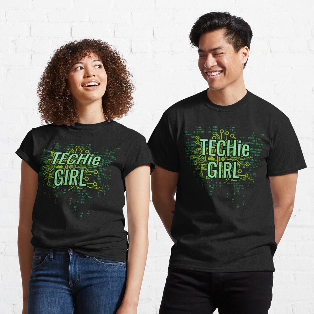 TECHie GIRL Digital Green Classic T-Shirt